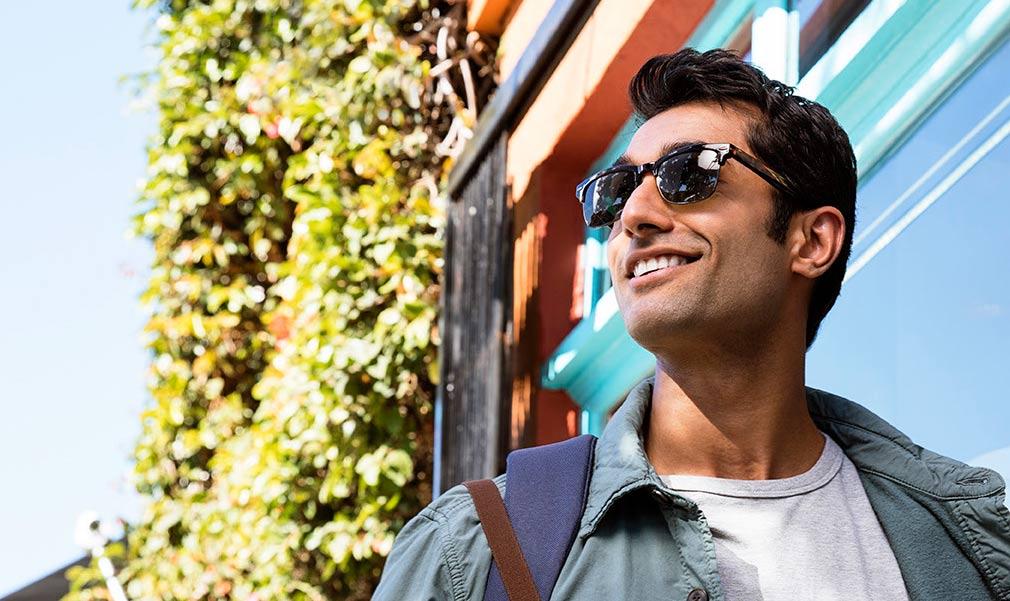 Man in sunglasses smiling